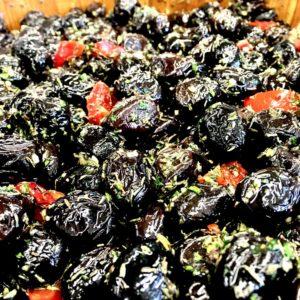 olives noires au thym
