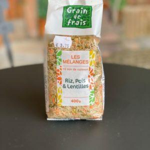 riz pois lentilles