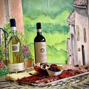 raclette + vin italien